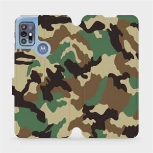 Flipové pouzdro Mobiwear na mobil Motorola Moto G20 - V111P Maskáče