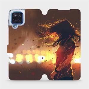 Flipové pouzdro Mobiwear na mobil Samsung Galaxy M12 - MA02S Tetovaná dívka
