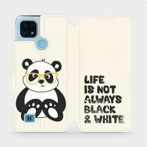 Flip pouzdro Mobiwear na mobil Realme C21 - M041S Panda - life is not always black and white