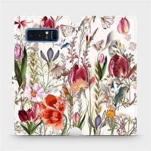 Flip pouzdro Mobiwear na mobil Samsung Galaxy Note 8 - MP01S Rozkvetlá louka