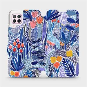Flip pouzdro Mobiwear na mobil Huawei P40 Lite - MP03P Modrá květena