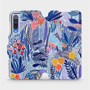 Flip pouzdro Mobiwear na mobil Xiaomi Mi 9 SE - MP03P Modrá květena
