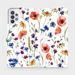 Flip pouzdro Mobiwear na mobil Samsung Galaxy A32 5G - MP04S Luční kvítí