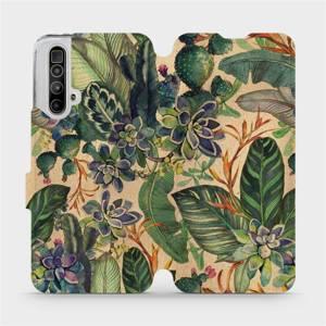 Flip pouzdro Mobiwear na mobil Realme X3 SuperZoom - VP05S Sukulenty