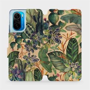 Flip pouzdro Mobiwear na mobil Xiaomi POCO F3 - VP05S Sukulenty