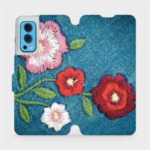 Flip pouzdro Mobiwear na mobil OnePlus Nord 2 5G - MD05P Džínové květy