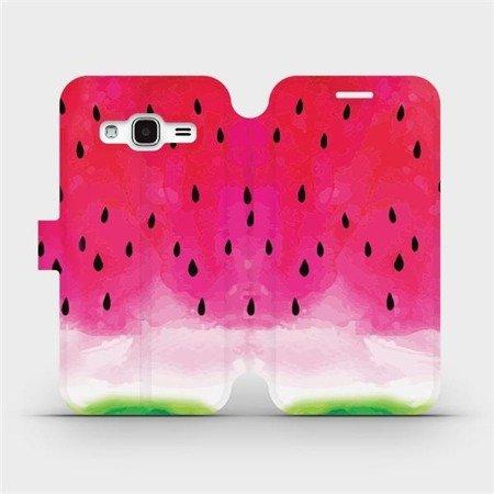 Flipové pouzdro Mobiwear na mobil Samsung Galaxy J3 2016 - V086S Melounek