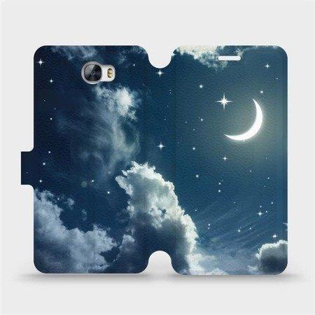 Flipové pouzdro Mobiwear na mobil Huawei Y6 II Compact - V145P Noční obloha s měsícem