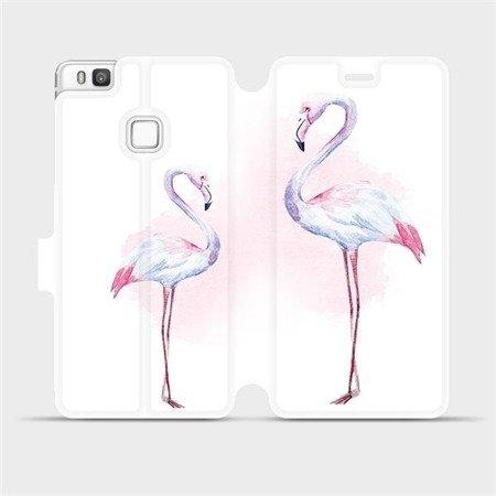 Flipové pouzdro Mobiwear na mobil Huawei P9 Lite - M005S Plameňáci