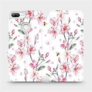 Flipové pouzdro Mobiwear na mobil Honor 9 Lite - M124S Růžové květy