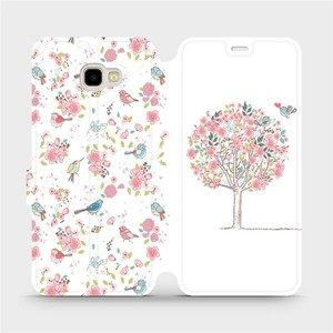 Flipové pouzdro Mobiwear na mobil Samsung Galaxy J4 Plus 2018 - M120S Strom a ptáčci