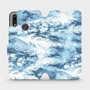 Flipové pouzdro Mobiwear na mobil Huawei P Smart 2019 - M058S Světle modrá horizontální pírka