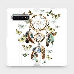 Flipové pouzdro Mobiwear na mobil Samsung Galaxy S10 Plus - M001P Lapač a motýlci