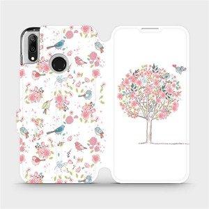Flipové pouzdro Mobiwear na mobil Huawei Y7 2019 - M120S Strom a ptáčci