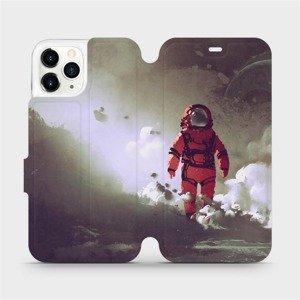 Flipové pouzdro Mobiwear na mobil Apple iPhone 11 Pro - MA07S Týpek ve skafandru