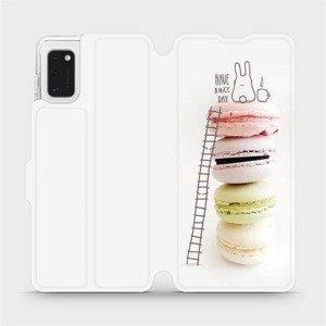 Flipové pouzdro Mobiwear na mobil Samsung Galaxy A41 - M090P Makronky - have a nice day