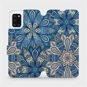 Flipové pouzdro Mobiwear na mobil Samsung Galaxy A31 - V108P Modré mandala květy