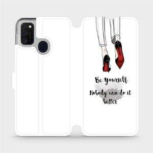 Flipové pouzdro Mobiwear na mobil Samsung Galaxy M21 - M046P Be yourself