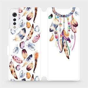 Flipové pouzdro Mobiwear na mobil LG Velvet - M003S Lapač a barevná pírka