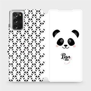 Flipové pouzdro Mobiwear na mobil Samsung Galaxy Note 20 - M030P Panda Amálka