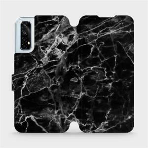 Flipové pouzdro Mobiwear na mobil Realme 7 - V056P Černý mramor