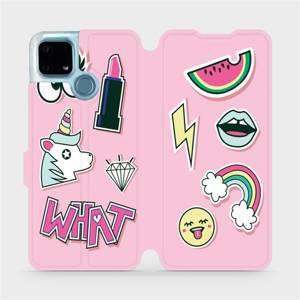 Flip pouzdro Mobiwear na mobil Realme 7i - M129S Růžové WHAT