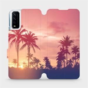 Flipové pouzdro Mobiwear na mobil Vivo Y11S - M134P Palmy a růžová obloha