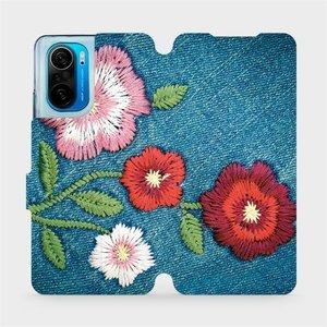 Flipové pouzdro Mobiwear na mobil Xiaomi Mi 11i / Xiaomi Poco F3 - MD05P Džínové květy