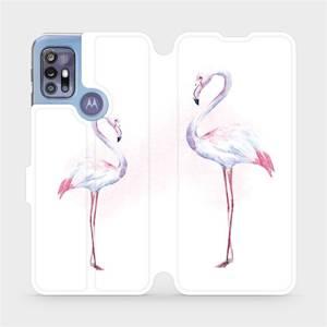 Flipové pouzdro Mobiwear na mobil Motorola Moto G30 - M005S Plameňáci
