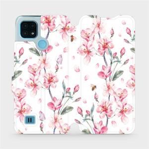 Flip pouzdro Mobiwear na mobil Realme C21 - M124S Růžové květy