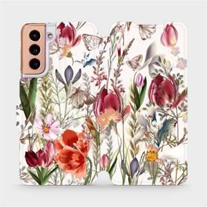Flip pouzdro Mobiwear na mobil Samsung Galaxy S21 - MP01S Rozkvetlá louka - výprodej