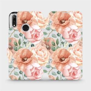 Flip pouzdro Mobiwear na mobil Huawei Y7 2019 - MP02S Pastelové květy