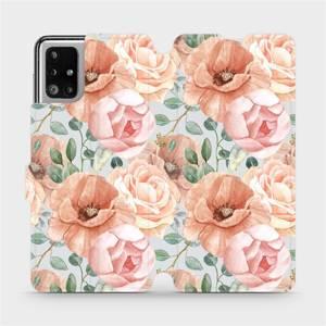 Flip pouzdro Mobiwear na mobil Samsung Galaxy M51 - MP02S Pastelové květy