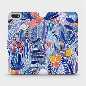 Flip pouzdro Mobiwear na mobil Huawei P9 Lite mini - MP03P Modrá květena