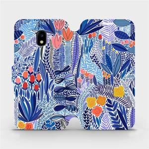 Flip pouzdro Mobiwear na mobil Samsung Galaxy J3 2017 - MP03P Modrá květena
