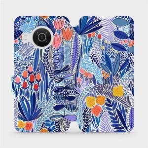 Flip pouzdro Mobiwear na mobil Nokia X10 - MP03P Modrá květena