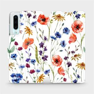Flip pouzdro Mobiwear na mobil Huawei P30 - MP04S Luční kvítí