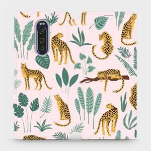Flip pouzdro Mobiwear na mobil Sony Xperia 1 - MP07S Leopardi