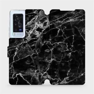 Flip pouzdro Mobiwear na mobil Vivo X60 Pro 5G - V056P Černý mramor