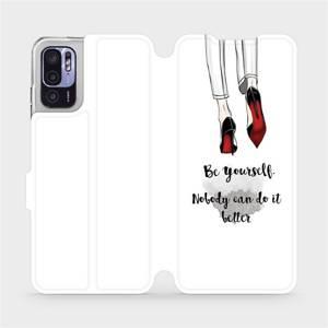 Flip pouzdro Mobiwear na mobil Xiaomi Redmi Note 10 5G - M046P Be yourself