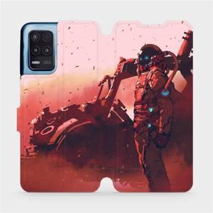 Flip pouzdro Mobiwear na mobil Realme 8 5G - MA09S Průzkumník s červeným vozítkem