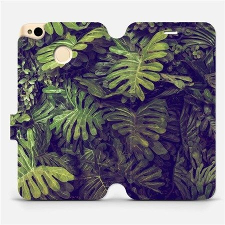 Flipové pouzdro Mobiwear na mobil Xiaomi Redmi 4X - V136P Zelená stěna z listů
