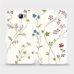 Flipové pouzdro Mobiwear na mobil Huawei Y5 II - MD03S Tenké rostlinky s květy