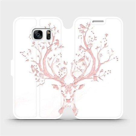 Flipové pouzdro Mobiwear na mobil Samsung Galaxy S7 Edge - M007S Růžový jelínek