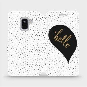 Flipové pouzdro Mobiwear na mobil Samsung Galaxy A8 2018 - M013P Golden hello