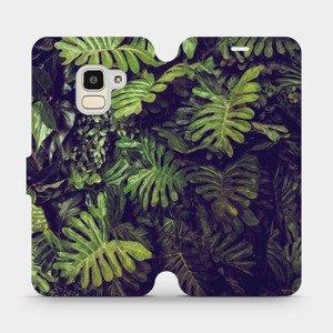 Flipové pouzdro Mobiwear na mobil Samsung Galaxy J6 2018 - V136P Zelená stěna z listů