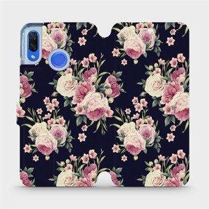 Flipové pouzdro Mobiwear na mobil Huawei Nova 3 - V068P Růžičky