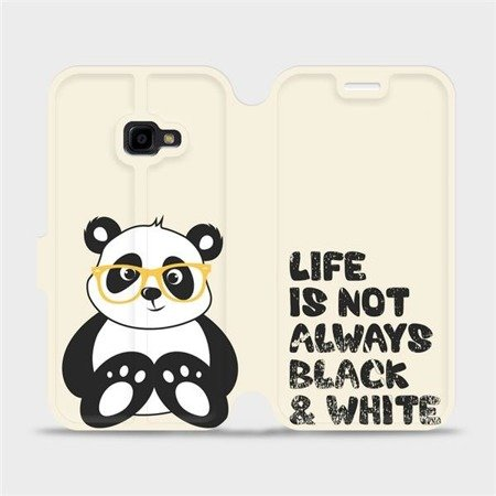 Flipové pouzdro Mobiwear na mobil Samsung Xcover 4 - M041S Panda - life is not always black and white