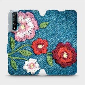 Flipové pouzdro Mobiwear na mobil Huawei Nova 5T - MD05P Džínové květy
