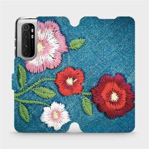 Flipové pouzdro Mobiwear na mobil Xiaomi Mi Note 10 Lite - MD05P Džínové květy